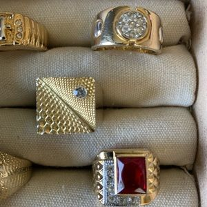 Vintage costume men's style rings